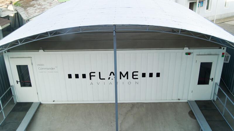 Комплексный тренажёр по отработке навыков пожаротушения в салоне самолёта Flame Commander 9000
