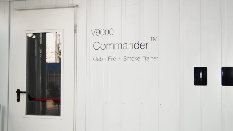 Innovative in-cabin Fire Trainer Flame Commander 9000
